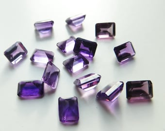 Amethyst - Princess-Cut LOT, 14.10 cts - 15 pieces - 5x7 (A120)