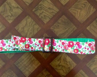 Liberty of London pink Betsy floral belt