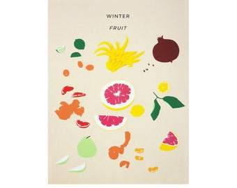 Winter Fruit Lithograph
