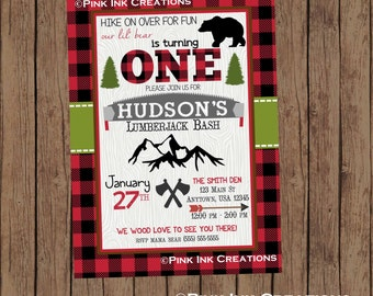 LUMBERJACK Birthday Invitation / Lumber jack Invitation / Lumberjack Invitation / Lumberjack Birthday Party/Lumberjack Baby Shower/PRINTABLE