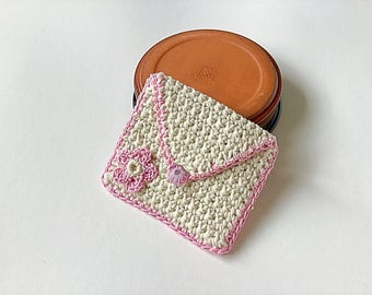 Teachers gift - little purse  - baby pink - for cards, money, mp3, store cards, makeup, coins
