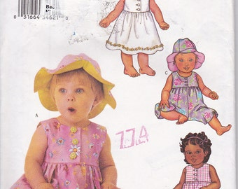 Butterick 3404 Toddler Girls Rompers & Sun Dresses Sewing Pattern Sizes L-XL Out of Print UNCUT