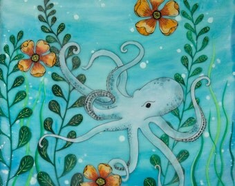 Print - Limited Edition - Under the Sea - mixed media, encaustic