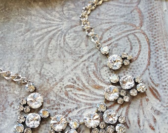 PRIMA DONNA* COLLECTION Genuine Swarovski Crystal and Moonlight Necklace, Bridal, Phantom of the Opera, Wedding, Formal, Great Gatsby,