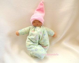 Waldorf doll, Steiner doll made of eco and natural materials 9inch \ 22.5cm-בובת וולדורף לתינוקות