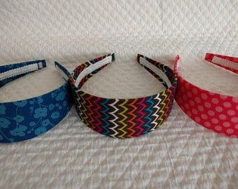 Set of 3 Headbands-Blue, brown and Red