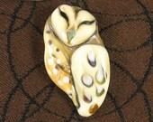 NEW Lampwork Owl Focal Bead by Kerribeads
