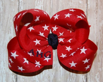 American Heritage Girls Embroidered Bow - AHG Bow - Embroidered Bow