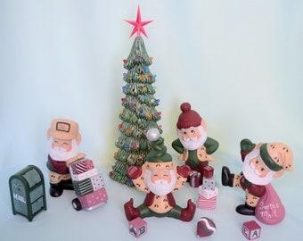 Santa's Elves - Set of Elves - Christmas Decor - Christmas Scene - Christmas Centerpiece - Gift idea - Saint Nick - Christmas Magic -Holiday