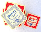 1960's PBR Double Sided Coasters 60s 1970s 70s Set of 2 set of 4