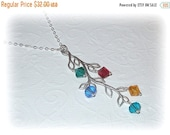 MOTHERS DAY SALE Birthstone Branch Necklace