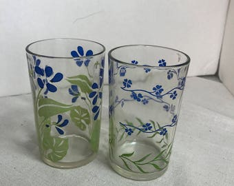 Blue Flowers Sweet Swanky Swig Pair