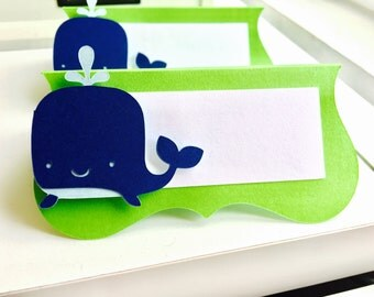 Whale Place Cards (Set of 12)