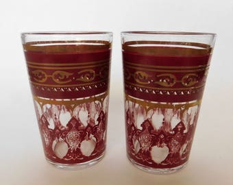 VINTAGE Moroccan TEA Glasses Set of TWO