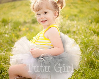 Gray Tutu, Grey Tutu Skirt, Toddler Tutu, Gray Tutu for Baby, Newborn Photo prop, Birthday, Flower Girl