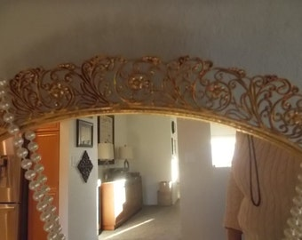 Matson Elegant mirror tray vanity tray large fragrance mirror vintage 1960s dresser mirror tray