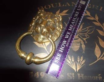 Vintage Brass Lion's head door knocker