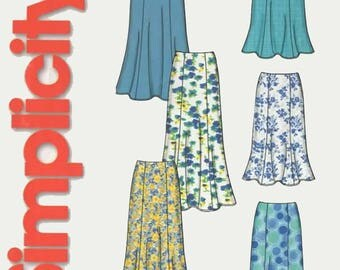 OOP Misses Skirt in Two Lengths Regular and Maxi Length Simplicity 5524 So Easy Pattern Regular and Plus Size 8-18 UNCUT