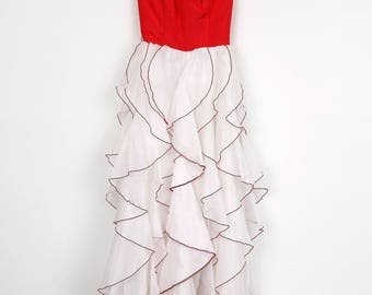 1950's Petal Prom Party Dress