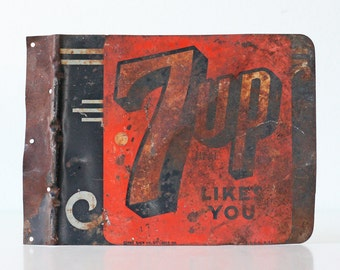Vintage 7 Up Sign, 7UP Likes You