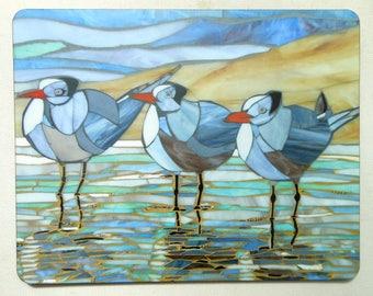 8 Large Placemats (4 x terns, 4 x heron)