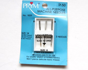 Supplies - Prym Universal Ball Point Sewing Machine Needles, size 14