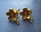 Buttercup - Vermeil Double Gold Plate over Solid Sterling Silver earring posts - 8.5mm