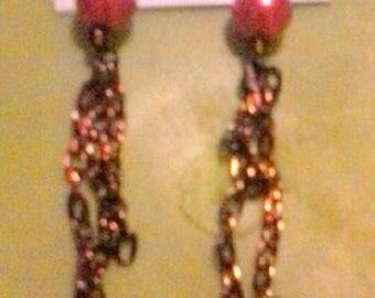 Bronze Chain Drop Earrings