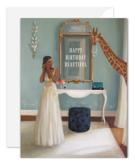 Lady In Waiting. Birthday Card. SKU JH1132