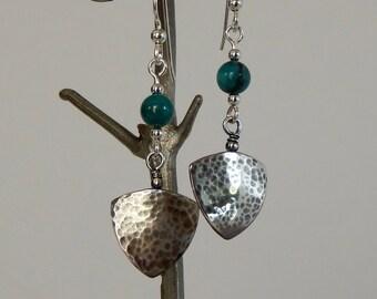 Turquoise Earrings Boho Earrings Natural Gemstones Dangle Earrings Turquoise Jewelry Silver Earrings Boho Jewelry Gift For Her Drop Earrings