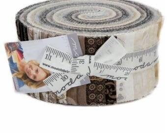 Maven Jelly Roll - Moda Jelly Roll - Basic Grey Fabric Neutrals Fabric Collection - 2.5 inch fabric strips - Moda Precut Fabric 30460JR