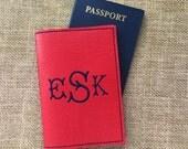 Passport Cover, Personalized Passport Cover, Personalise Passport Case, Traveller Documents Holder, Customized Passport Cover, Monogram Gift