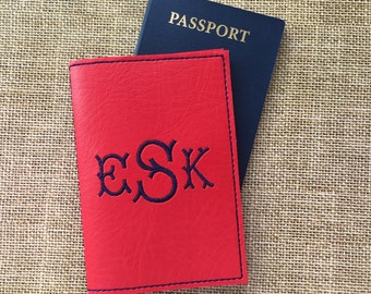 Personalized Passport - Monogram Passport Holder for Women - Faux leather Passport Cover- Gifts for Travelers - Gift for her