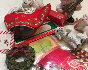 Retro Christmas Ornament Lot