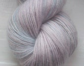 Lace weight yarn hand painted 100g. fine mohair palest pink, lilac, hyacinth blue