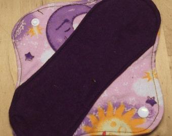 2 Moon-thly Pantyliners - Starry Starry Night Moon Sun purple