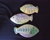 Little School of Ceramic Fish wall tiles