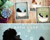 Pomeranian dog bath soap Company vintage style artwork by Stephen Fowler Giclee Signed Print UNFRAMED