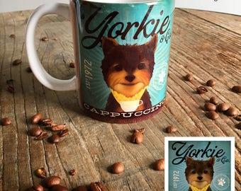 Yorkie Yorkshire Terrier Coffee dog coffee mug graphic art MUG 15 oz  OR 11 oz ceramic coffee mug read details 11 oz mug pictured