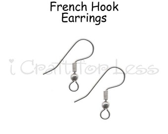 100 (50 Pairs) Earring Hooks, French Hook Earrings, Hypoallergenic Earrings - 10 PERCENT REFUND