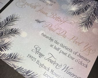 Liz's Frosted Winter Wedding Invitation - SAMPLE