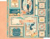 Graphic 45 Cafe Parisian Creme de La Creme Scrapbook Paper