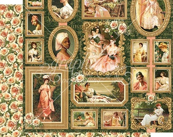 Graphic 45 Portrait of a Lady Elizabeth Scrapbook Paper