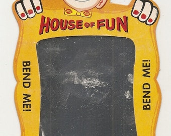 1960's Vintage Original DQ Dairy Queen Party Clown Fun House Mirror Fun Item