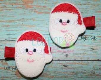 Santa Felt Hair Clips, Felt Hair Clips, Santa Clip, Girls Hair Clip, Santa, Christmas Hair Clip, Feltie Hair Clip, Clippies