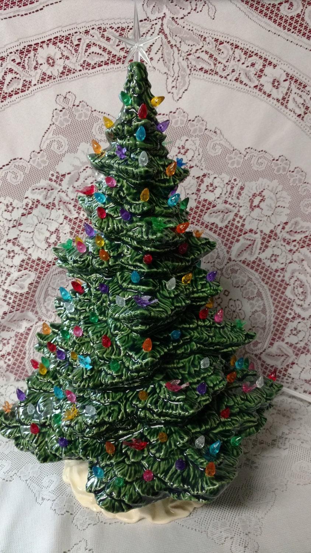 18 Tampa Bay Lighted Ceramic Christmas Tree Green