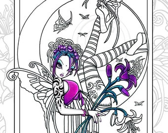 Myka jelina fairy art paintings prints coloring by for Myka jelina coloring pages