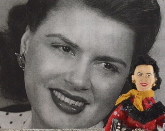 Patsy Cline Country Music Singer Art Doll Miniature