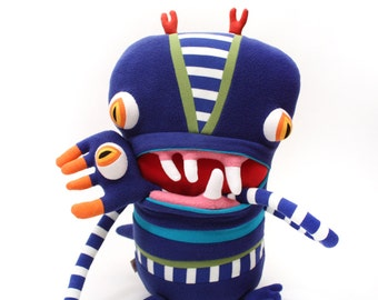 """Plush Big Monster """"Lefty"""" Cotton Monster with Pocket Mouth"""