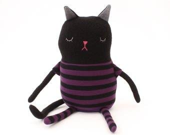 "Cat Sleepy Kitty in Pajamas ""Nighty"" Cotton Monster Plush"
